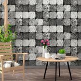 磚塊磚紋壁紙 ins電視背景黑白格子方塊幾何客廳現代簡約墻紙臥室 遇見寶貝