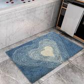 厚款衛浴浴室地墊門墊現代簡約吸水防滑纖維可水洗機洗淋浴房   LannaS