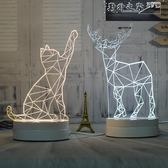 小夜燈插電床頭燈創意夢幻可愛比心檯燈柔光臥室麋鹿情人節禮物 野外之家