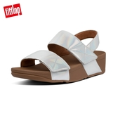 新降66折【FitFlop】MINA IRIDESCENT BACK-STRAP SANDALS 金屬光澤可調式後帶涼鞋-女(珍珠白)