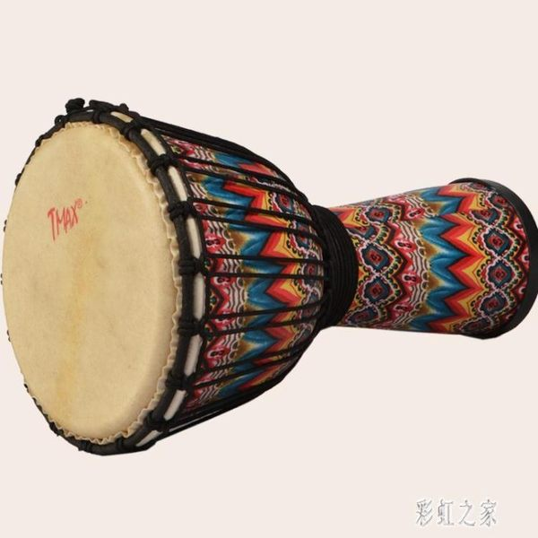 手鼓非洲鼓兒童10吋玻璃鋼手鼓成人初學入門演奏教學麗江羊皮LB15937【彩虹之家】