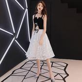 全館85折洋裝小禮服裙女2019新款秋冬吊帶名媛聚會生日派對連身裙短款顯瘦