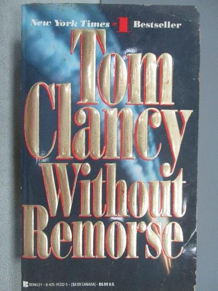 【書寶二手書T1/原文小說_MRX】Without Remorse_Tom Clancy