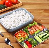 日式不銹鋼保溫飯盒便當小學生便攜餐盒套裝分隔型