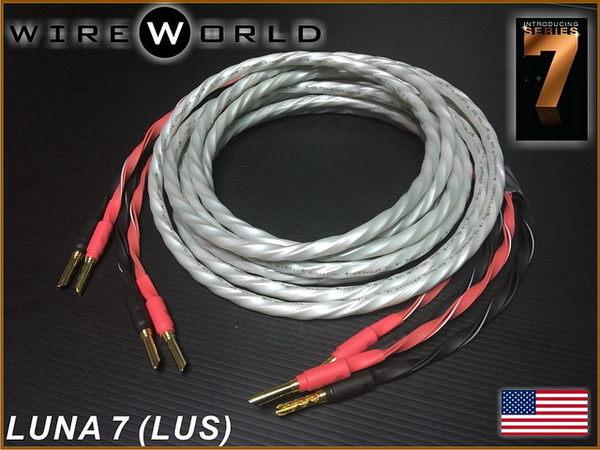 盛昱音響~美國 WireWorld LUNA 7 喇叭線 2.5M*2【獨家QUAD DNA Helix技術】現貨