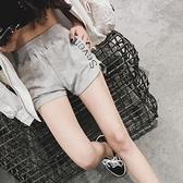 真理褲 運動短褲女正韓高腰跑步瑜伽闊腿熱褲外穿休閒家居睡褲顯瘦沙灘褲-Ballet朵朵