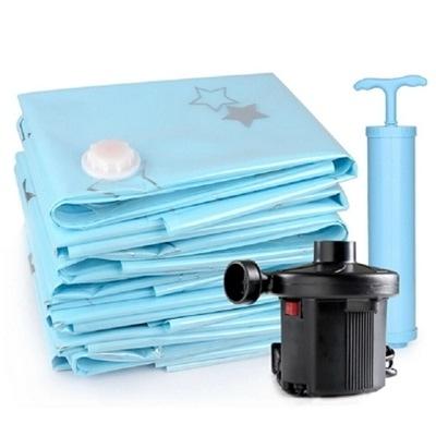 真空壓縮袋(九件套)-強大實用乾淨天然居家收納防塵套73l18【時尚巴黎】