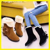 店長推薦2019冬季新款韓版雪地靴女鞋短筒加絨保暖平底平跟學生靴子女棉鞋