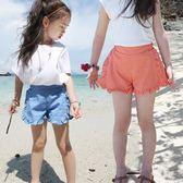 韓版中大童兒童休閒短褲外穿夏裝女童熱褲薄款純棉小女孩五分褲子   初見居家