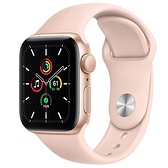 Apple Watch SE GPS版-鋁金屬殼搭配運動型錶帶【40m】【愛買】