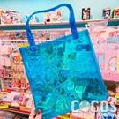 正版 日本 玩具總動員 果凍螢光手提袋 透明手提袋 收納袋 文件袋 胡迪&叉奇款 COCOS DK280