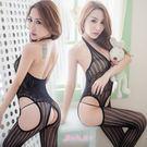 情趣睡衣 顯瘦直紋貓裝網衣 半透明貼身性感內衣-愛衣朵拉