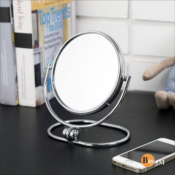 《嘉事美》摺疊式2倍放大雙面化妝鏡/兩用雙面立鏡/G-BC-MR011/1入/鞋櫃/茶几/電腦桌/電視櫃