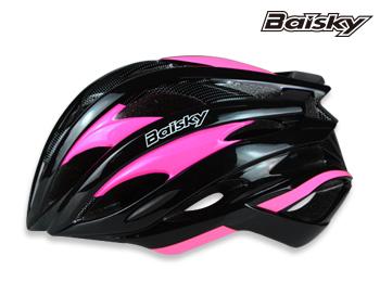 BAISKY 自行車安全帽 第一代輕量級安全帽 螢光粉 百士奇 運動王【162501000102】