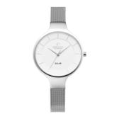 OBAKU 精美女性太陽能腕錶-銀