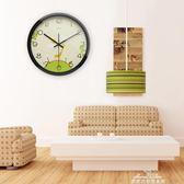 掛鐘 靜音鐘錶掛鐘客廳創意現代時鐘石英鐘掛錶臥室圓形個性簡約『夢娜麗莎精品館』