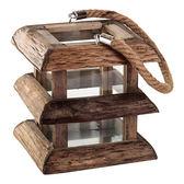 【荷蘭PTMD】創意手提式木製燭台(蠟燭台/ 藝術品/ 客廳擺飾/ 20x20x41cm)
