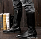 男女皮靴男鞋COSPLAY動漫游戲騎馬靴儀仗隊長靴馬丁靴子加棉 依凡卡時尚