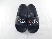 FILA 男女款戶外防水黑色拖鞋-NO.4S326U001