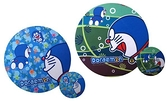 【卡漫城】 Doraemon 子母彈性 滑鼠墊 剩右款 ㊣版 多拉 哆啦A夢 小叮噹 杯墊 精準 圓型 圓形