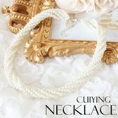 珍珠螺旋編織氣質項鍊美之札