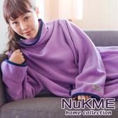 棉花田【NuKME】時尚多功能創意袖毯-多色可選(180cm)薰衣草