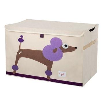 【原廠公司貨】加拿大3 Sprouts 大型玩具收納箱~貴賓狗