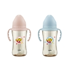 小獅王辛巴 巧虎PPSU寬口吸管把手中奶瓶 270ml (藍/粉)