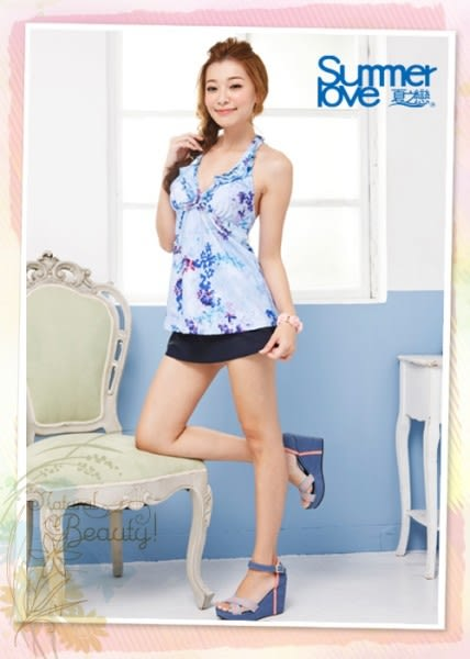 【夏之戀SUMMERLOVE】浪漫風情長版三件式泳衣(E14736)