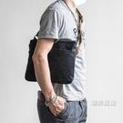 復古油蠟帆布包男士側背包夏季小包單肩包