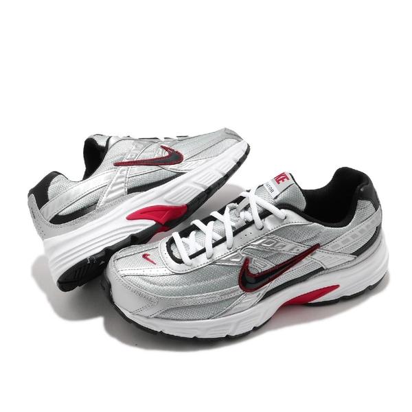 Nike 慢跑鞋 Initiator 白 紅 銀 男鞋 女鞋 復古 老爹鞋 運動鞋 【ACS】 394055-001