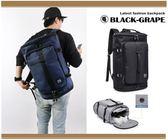 大容量商旅圓筒旅行背包/ 17吋電腦後背包/ 電腦後背包【B2202】黑葡萄包包