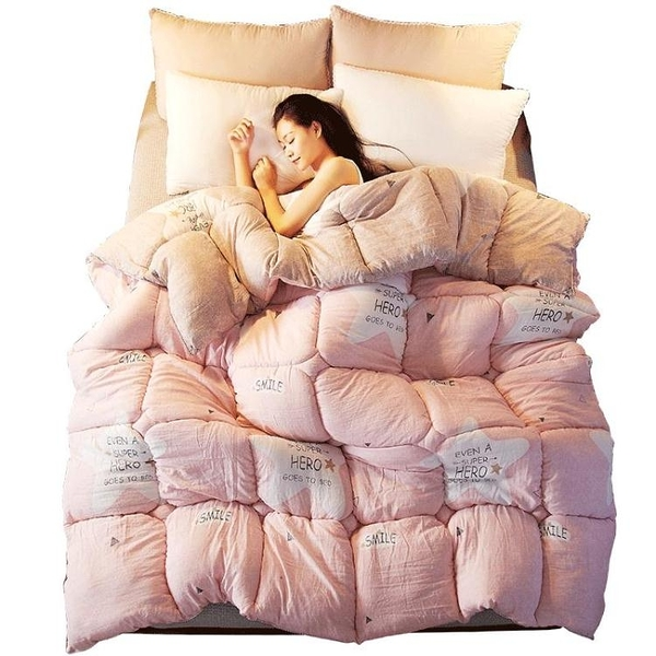 被子水洗棉冬被雙人加厚保暖被芯單人學生宿舍棉被冬季被褥 萬客居
