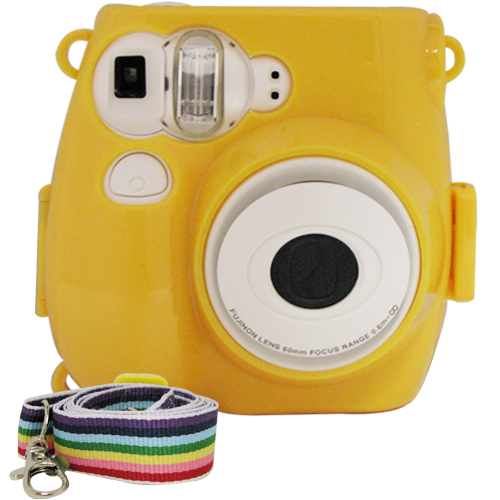 For FUJIFILM mini 7s 拍立得專用 水晶殼 保護殼 黃色