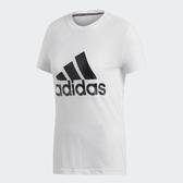 adidas T恤 MH BOS 短Tee 白 黑 女款 運動服 短袖上衣 【PUMP306】 DZ0013