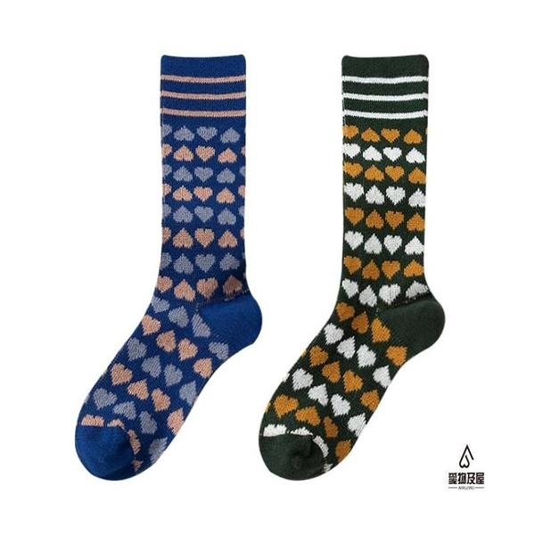 長襪女秋冬小腿襪純棉百搭高筒日系可愛堆堆襪【愛物及屋】