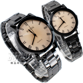 KEVIN 情人對錶 羅馬數字時刻 時尚腕錶 IP黑電鍍 對款 KEV2068羅馬大+KEV2068羅馬小