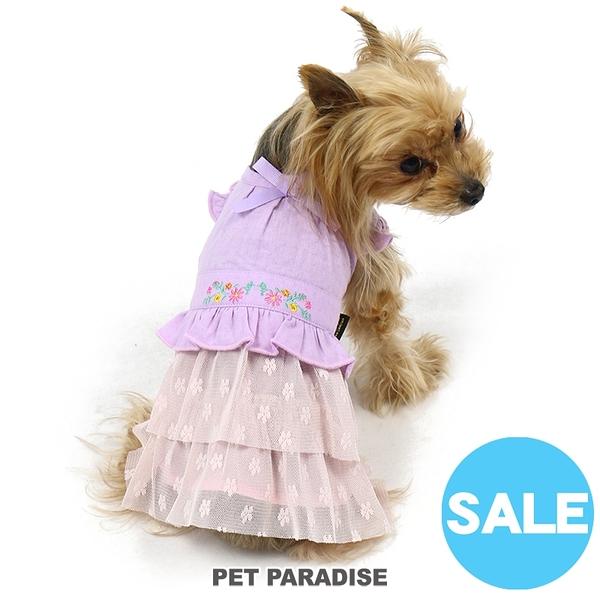 【PET PARADISE 寵物精品】 Pretty Boutique 粉紫假二件紗裙洋裝(DSS/DS/S) 寵物衣服 《SALE》