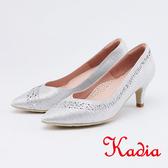 kadia .華麗金蔥水鑽尖頭高跟鞋0003 85 銀色