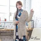 【UFUFU GIRL】雜訊風針織布,傘下擺罩衫閒適好穿!