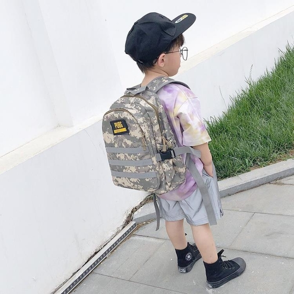 書包 兒童大容量三級吃雞包幼稚園迷彩雙肩背包男中小學生絕地求生書包【快速出貨】