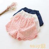 2018中大童百搭韓版外穿全棉兒童女童蕾絲短褲