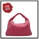 BV小羊皮編織肩背包-桃粉GM115654二手商品