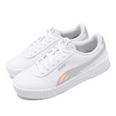 Puma 休閒鞋 Carina Iridescent 白 銀 女鞋 基本款 運動鞋 【ACS】 37383401