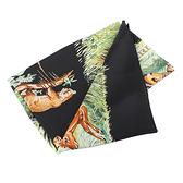【HERMES】黑底動物叢林絲巾 (140x140) HE75000147