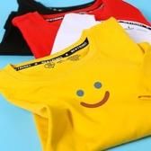 現貨速達 情侶T 現貨 情侶裝 純棉短T MIT台灣製【Y0882-12】短袖 可愛簡單藍紅笑臉 快速出貨