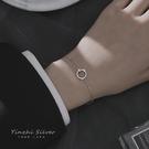 手鍊 925純銀手鍊女圓圈雙層不對稱手鍊ins個性簡約手鍊小眾設計高級感 寶貝計畫 618狂歡