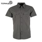 【西班牙TERNUA】男Polygiene格紋短袖襯衫1481167 AF / 城市綠洲(輕量透氣、彈性快乾、防異味)