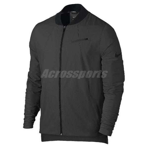 Nike 外套 Flex Kobe Jacket Black 運動外套 防風外套 夾克 男款 灰 黑 【PUMP306】 830828-060