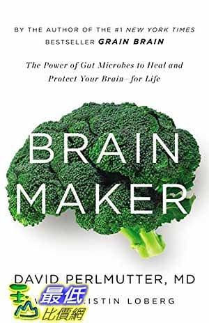 [104美國直購] 2015 美國暢銷書排行榜  The Power of Gut Microbes to Heal and Protect Your Brain–for Life